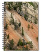 Cliff Side Grand Canyon Colors Vertical Spiral Notebook