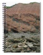 Cliffs At Joggins Nova Scotia Spiral Notebook