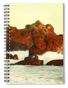 Cliffs In The Warm Evening Light Spiral Notebook