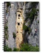 Climber Near Prehistoric Cliff Dwelling Spiral Notebook