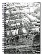 Clipper In The Storm Filtered Spiral Notebook