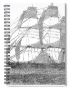Clipper Ship, 1850 Spiral Notebook