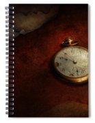 Clock - Time Waits For Nothing  Spiral Notebook