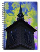 Clock Tower Night Spiral Notebook