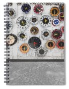 Clocks On The Wall Spiral Notebook