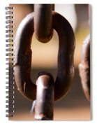 Close Up Of A Chain Link Spiral Notebook