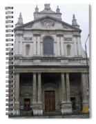 Close Up Of A Classical Architecture Of A Building In London Spiral Notebook