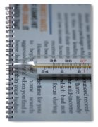 Close Up Of A Thermometer Spiral Notebook
