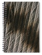 Close-up Of A Turkey Feather Spiral Notebook