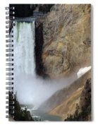 Close Up Of Lower Falls Spiral Notebook