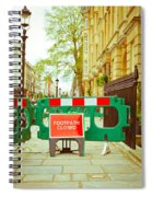 Closed Footpath Spiral Notebook
