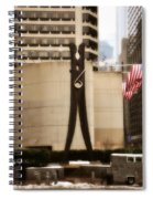 Clothes Pin Statue In Philadelphia Spiral Notebook