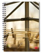 Clothespins On The Line Spiral Notebook