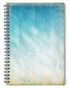 Cloud And Blue Sky On Old Grunge Paper Spiral Notebook