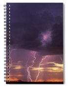 Cloud To Ground Lightning At Sunset Spiral Notebook