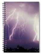 Cloud To Ground Lightning Spiral Notebook