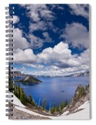 Clouds Above Crater Lake Spiral Notebook