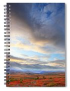 Clouds At Sunrise At The Arctic Circle Spiral Notebook