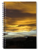 Clouds Illuminated At Sunset Spiral Notebook