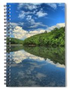 Clouds In The Lake Spiral Notebook