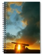 Clouds Over A Tomb, Poulnabrone Dolmen Spiral Notebook