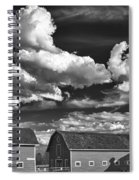 Clouds Over Knox 13804b Spiral Notebook