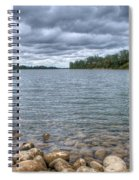 Clouds Over The American River Spiral Notebook