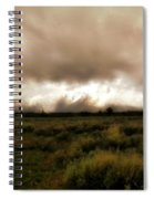 Clouds Over The Tetons Spiral Notebook