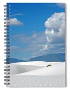 Clouds Over The White Sands Spiral Notebook