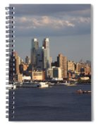 Clouds Rolling In On New York City Spiral Notebook