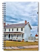 Cloudy At Bodie Spiral Notebook