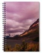 Cloudy Morning At Glacier Spiral Notebook