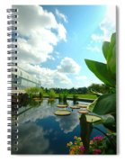 Cloudy Reflections And Lily Pad Companions  Spiral Notebook