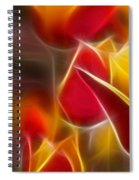 Cluisiana Tulips Triptych Panel 1 Spiral Notebook