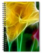Cluster Of Gladiolas Triptych Panel 3 Spiral Notebook