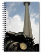 Cn Tower And Train Spiral Notebook