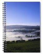 Co Antrim, Ireland Mist Over A Landscape Spiral Notebook