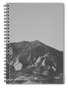 Co Rocky Mountain Front Range Hot Air Balloon View Bw Spiral Notebook