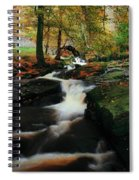 Co Wicklow, Ireland Waterfalll Near Spiral Notebook