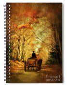 Coach On A Road In Autumn Spiral Notebook