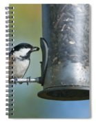Coal Tit On Feeder Spiral Notebook