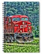Coal Train Hdr Spiral Notebook