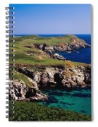 Coastal Cliffs And Seascape With Boat Spiral Notebook