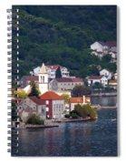 Coastal Town Of Montenegro Spiral Notebook