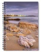 Coastline At Twilight Spiral Notebook