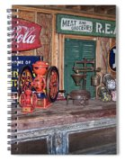 Coca Cola - Rexall - Ok Used Tires Signs And Other Antiques Spiral Notebook