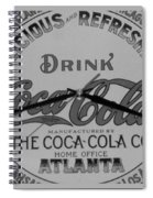 Coca Cola Clock In Black And White Spiral Notebook