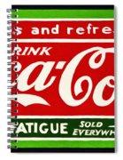 Coca-cola  Relieves Fatigue Spiral Notebook