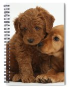Cocker Spaniel Puppy And Goldendoodle Spiral Notebook