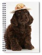 Cocker Spaniel Wearing A Hat Spiral Notebook